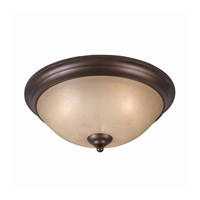 Series 1001 3 Light 17 inch Bronze Flush Mount Ceiling Light