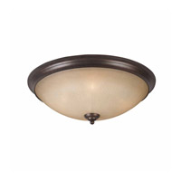 Series 1001 4 Light 23 inch Bronze Flush Mount Ceiling Light