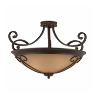 Lumenno 1003-01-26 Budapest 4 Light 26 inch Bronze Semi-Flushmount Ceiling Light, Medium