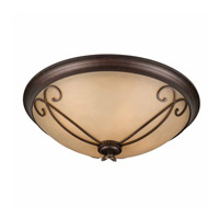 Lumenno International Series 1003 4 Light Flush Mount in Bronze with Tea Stained Glass 1003-06-23