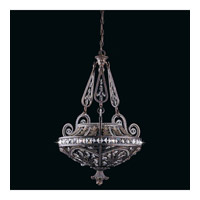 Series 1004 3 Light 22 inch Bronze Pendant Ceiling Light