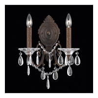 Lumenno 1005-00-02 Vienna 2 Light 8 inch Bronze with Gold and Silver Wash Wall Sconce Wall Light