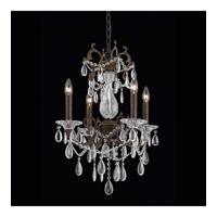 Vienna 4 Light 17 inch Bronze with Gold and Silver Wash Chandelier Ceiling Light