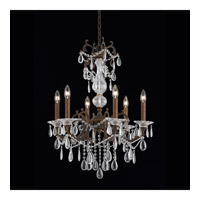 Vienna 6 Light 25 inch Bronze with Gold and Silver Wash Chandelier Ceiling Light
