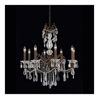 Vienna 8 Light 28 inch Bronze with Gold and Silver Wash Chandelier Ceiling Light