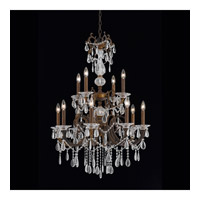 Vienna 12 Light 28 inch Bronze with Gold and Silver Wash Chandelier Ceiling Light