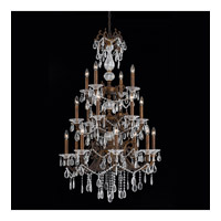 Vienna 18 Light 28 inch Bronze with Gold and Silver Wash Chandelier Ceiling Light