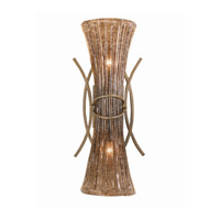 Lumenno International Series 2000 2 Light Wall Sconce in Bronze Patina with Amber Tinted Pastra Glass 2000-00-02