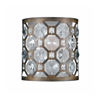 Lumenno International Series 2002 1 Light Wall Sconce in Hand Painted Weathered Bronze with Crystal Accent 2002-00-01