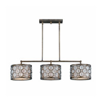 Lumenno 2002-07-03 Berlin 3 Light 40 inch Hand Painted Burnished Bronze Island Light Ceiling Light