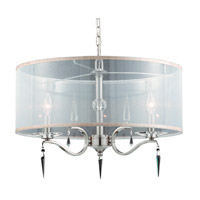 Series 2005 4 Light 22 inch Satin Nickel Pendant Ceiling Light