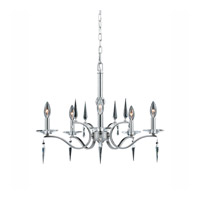 Series 2005 5 Light 25 inch Satin Nickel Chandelier Ceiling Light