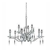 Series 2005 9 Light 28 inch Satin Nickel Chandelier Ceiling Light
