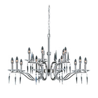 Series 2005 15 Light 35 inch Satin Nickel Chandelier Ceiling Light