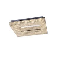 Lumenno 20424 Henny LED 24 inch Chrome with Crystal Flushmount Ceiling Light Square