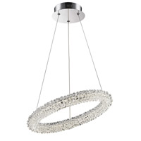 Bellini LED 17 inch Chrome with Crystal Pendant Ceiling Light