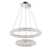 Bellini LED 22 inch Chrome with Crystal Pendant Ceiling Light