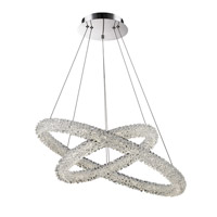 Bellini LED 25 inch Chrome with Crystal Pendant Ceiling Light