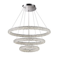 Bellini LED 30 inch Chrome with Crystal Pendant Ceiling Light