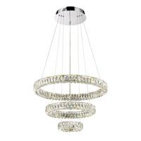 Lumenno 25930 Alize LED 32 inch Chrome Pendant Ceiling Light