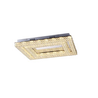 Midori LED 24 inch Chrome Flush Mount Ceiling Light, Square