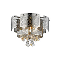 Lumenno 28417 Cosmo 5 Light 17 inch Chrome with Crystal Flushmount Ceiling Light