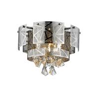 Lumenno 28417 Cosmo 5 Light 17 inch Chrome Flush Mount Ceiling Light