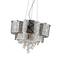 Cosmo 6 Light 20 inch Chrome with Crystal Pendant Ceiling Light