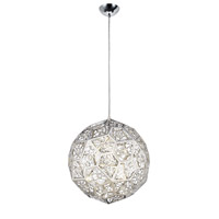 Lumenno 30817 Stella 1 Light 17 inch Chrome with Crystal Pendant Ceiling Light Round