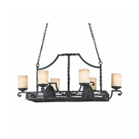 Lumenno Granada 8 Light Island Light in Blacksmith Bronze 31417