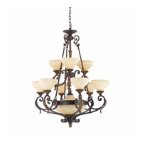 Lumenno Venus 11 Light Chandelier in English Bronze 32764