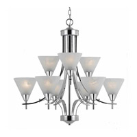 Value Series 320 9 Light 29 inch Chrome Plated chandelier Ceiling Light