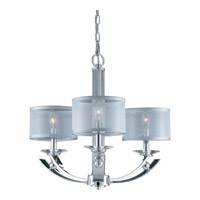 Aurora 3 Light 22 inch Chrome Chandelier Ceiling Light