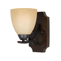 Lumenno International Series 8000 1 Light Wall Sconce in  Bronze with Tea Stained Glass 8000-00-01