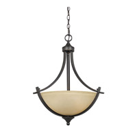 Lumenno International Series 8000 3 Light Pendant in  Bronze with Tea Stained Glass 8000-02-20