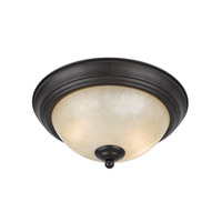 Lumenno International Series 8000 2 Light Flush Mount in  Bronze with Tea Stained Glass 8000-06-14