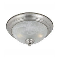 Lumenno International Series 8001 2 Light Flush Mount in Satin Nickel with White Swirl Alabaster Glass 8001-06-14