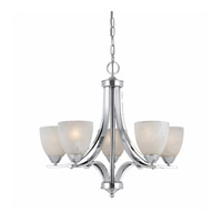 Value Series 8003 5 Light 24 inch Chrome Plated Chandelier Ceiling Light