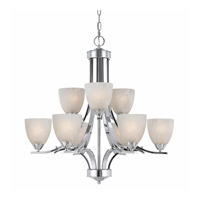 Value Series 8003 9 Light 28 inch Chrome Plated Chandelier Ceiling Light