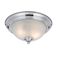 Value Series 8003 2 Light 14 inch Chrome Plated Flush Mount Ceiling Light