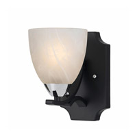 Lumenno Value Series 8004 1 Light Wall Sconce in Black with Chrome Accents 8004-00-01
