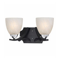 Lumenno Value Series 8004 2 Light Bath Light in Black with Chrome Accents 8004-00-02