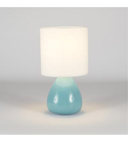 Pear 24 Inch 100 Watt Teal Crackle Ceramic Table Lamp Portable Light