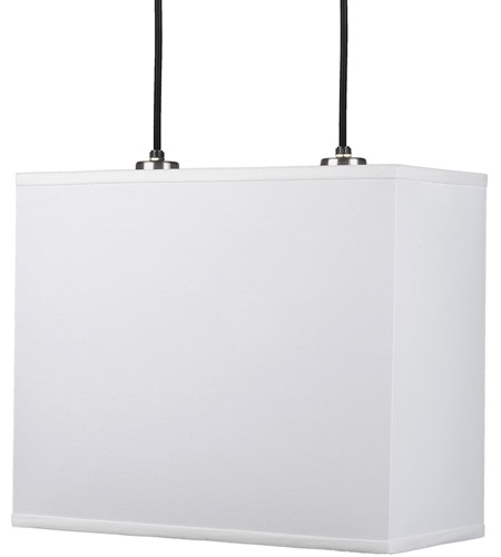 Lights UP 9140BN-WHT Rex LED 12 inch Brushed Nickel Pendant Ceiling Light in White Linen photo thumbnail