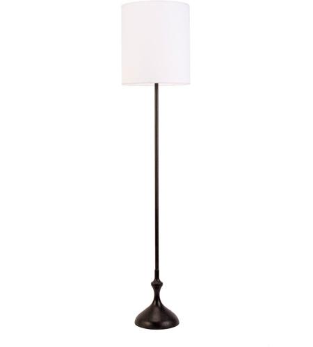 Atb 70 Inch 100 Watt Dark Wood Floor Lamp Portable Light In White Linen