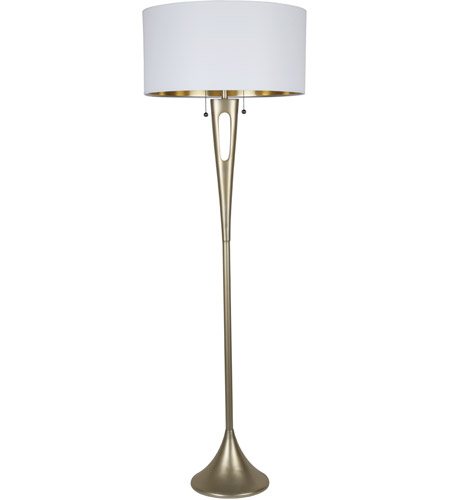 White and Gold Metal Floor Lamps