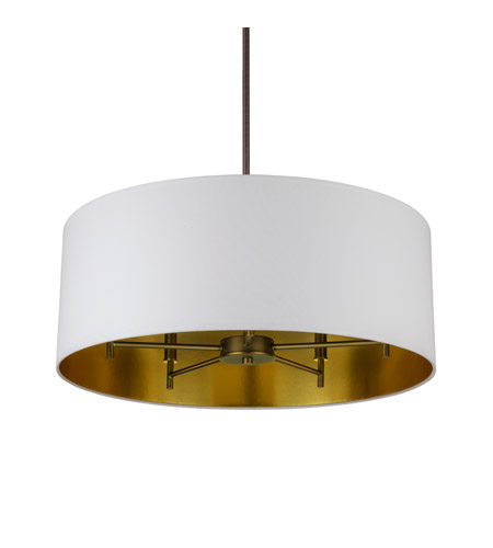 Lights UP 9050OB-MWG Walker LED 5 inch Oil Rubbed Bronze Chandelier Ceiling Light in Metallic White & Gold photo