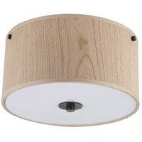 Lights UP Signature 2 Light Flushmount in Oil Rubbed Bronze with Cherry Veneer Shade 010OB-CWD
