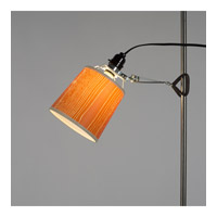 Lights Up Signature 1 Light Clip Light in Black with Faux Bois Paprika Shade 201BK-FBP