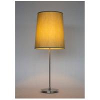 Lights UP 232BN-CEL Issa 35 inch 60 watt Brushed Nickel Table Lamp Portable Light